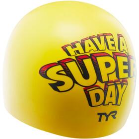 TYR Super Day Silicone Swim Cap yellow